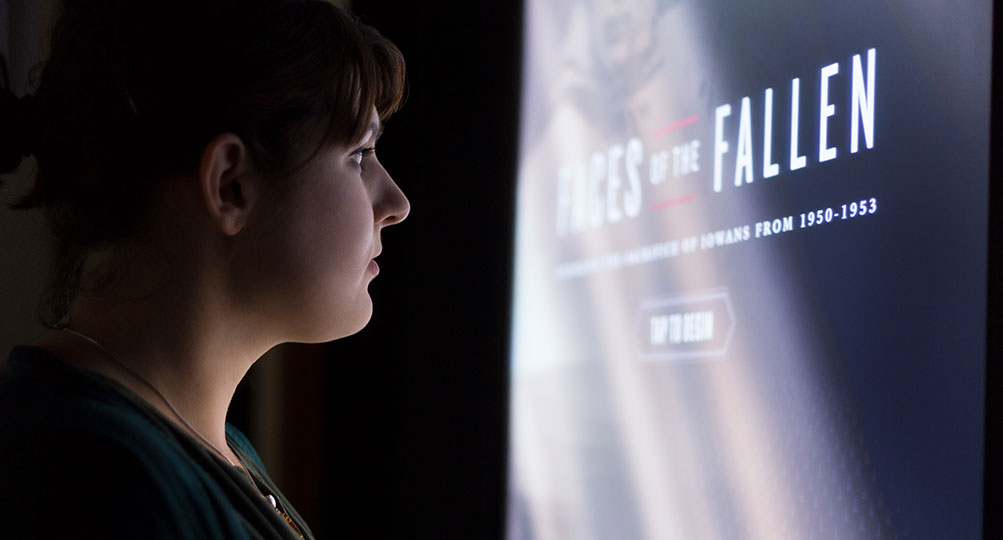 Faces of the Fallen encourages reflection on soldiers' lives and sacrifices.