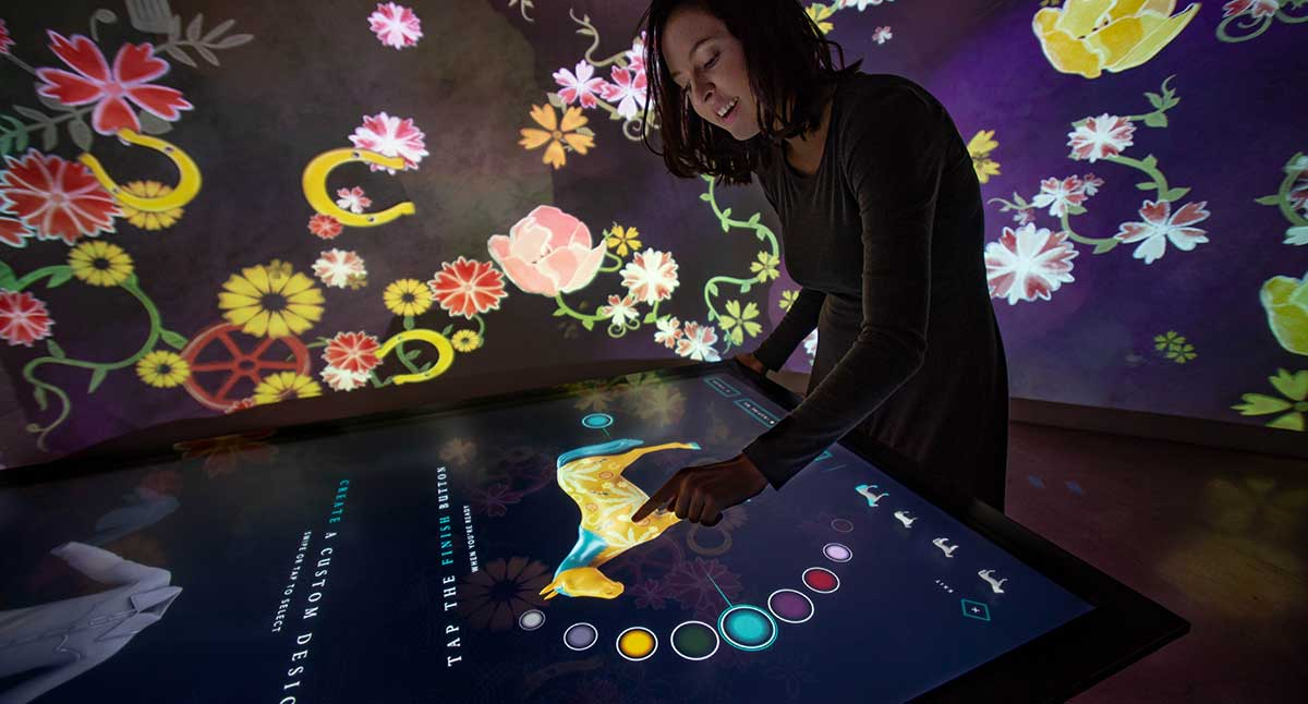 Immersive Room and Media Stations Let Visitors Explore Western Design