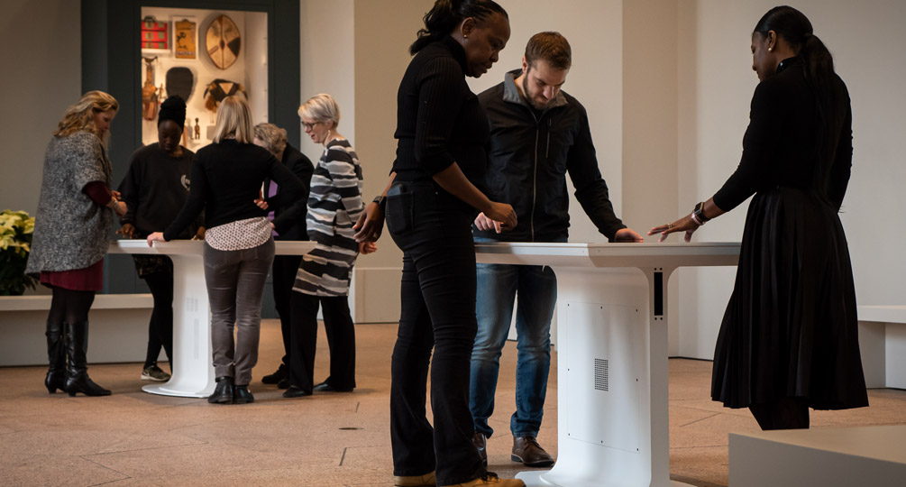Touch Table Exhibits Let Visitors Delve Into the Diversity of African Art