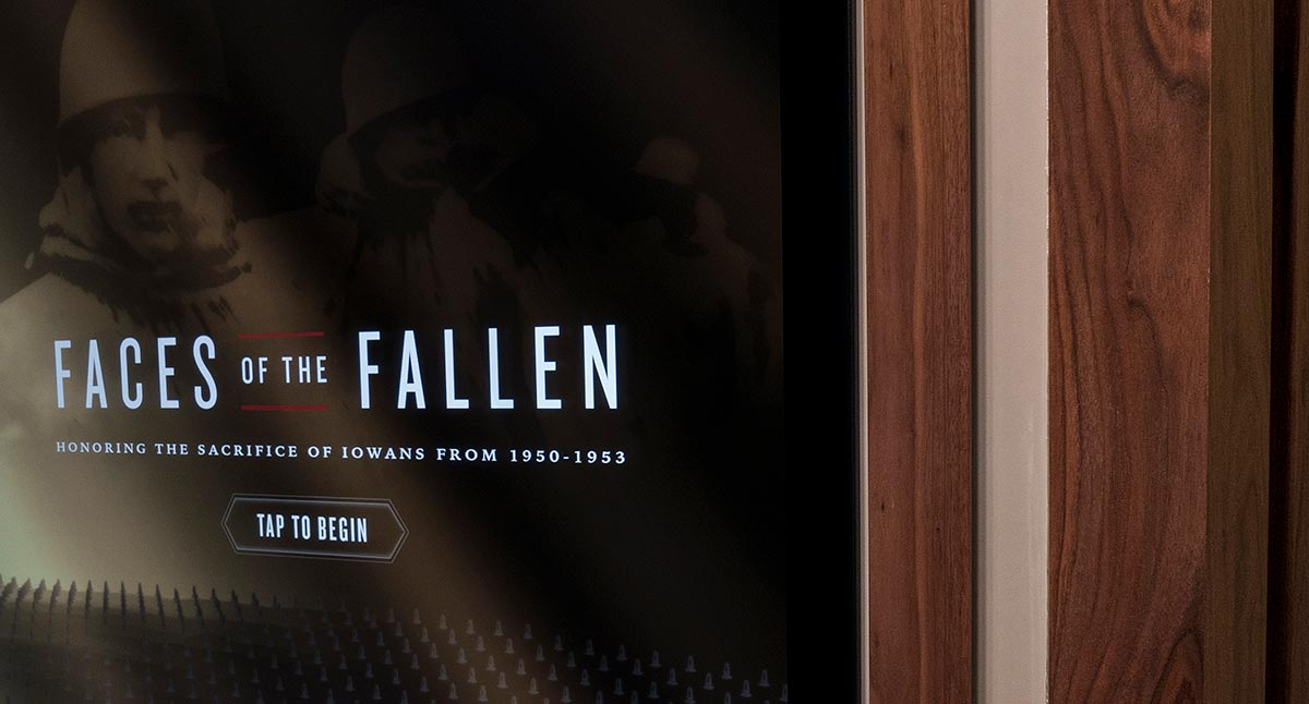 New Custom Exhibit Cabinetry for Faces of the Fallen
