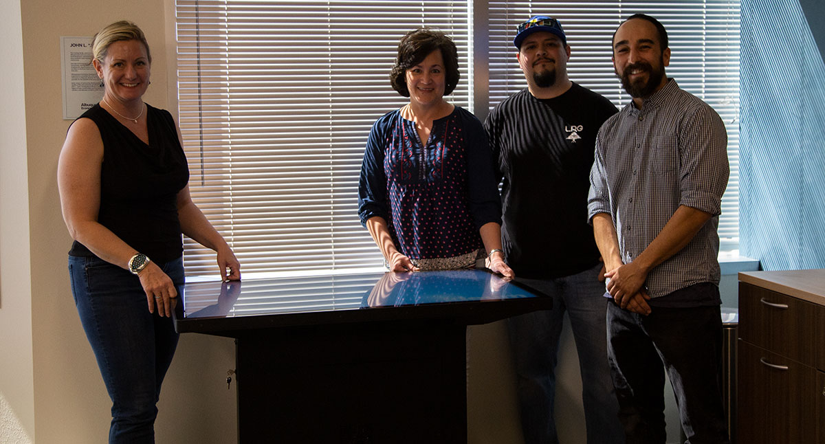 Ideum Donates Multitouch Table to Albuquerque Economic Development