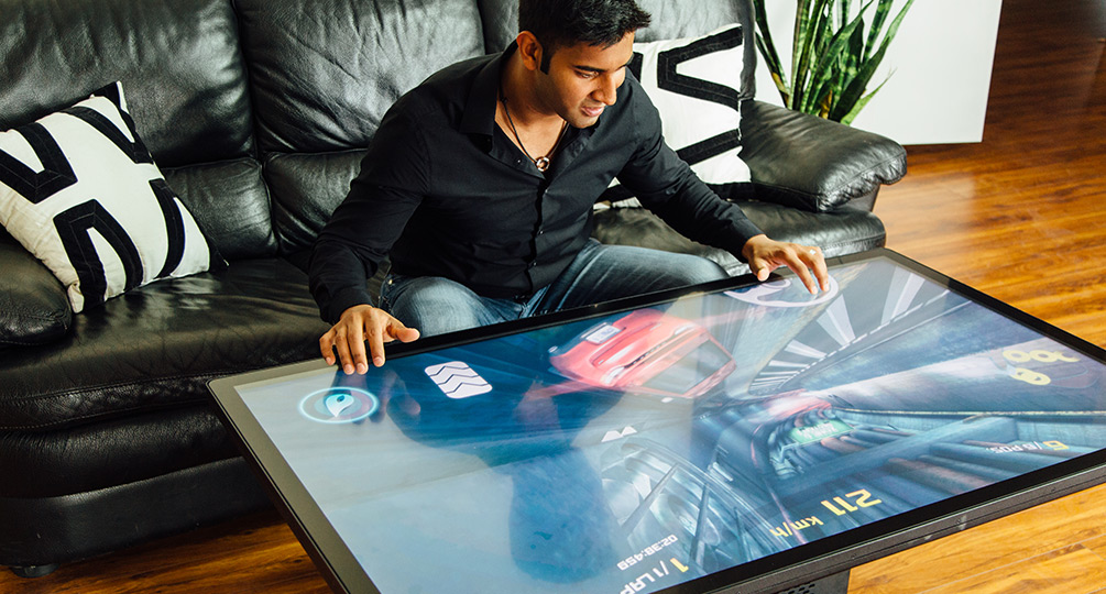 World's First 4K UHD Multitouch Coffee Table