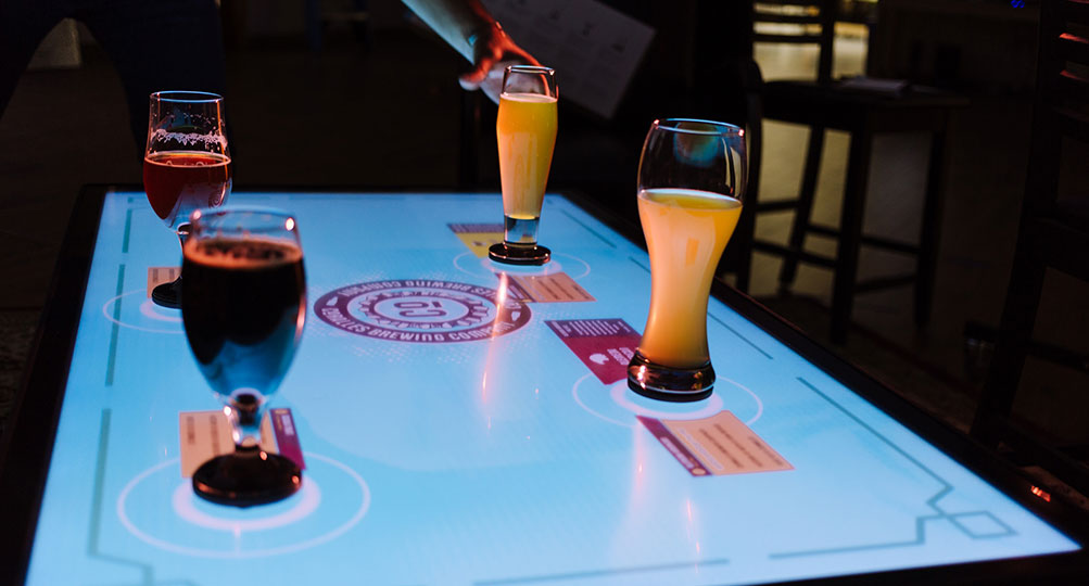 The New Mexico Beer Flight Tangible Engine demo.