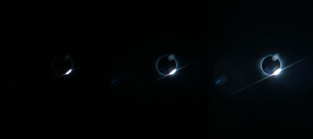 The Diamond Ring Effect as imaged by a Megamovie Mobile user in Tennessee using an iPhone 7.
