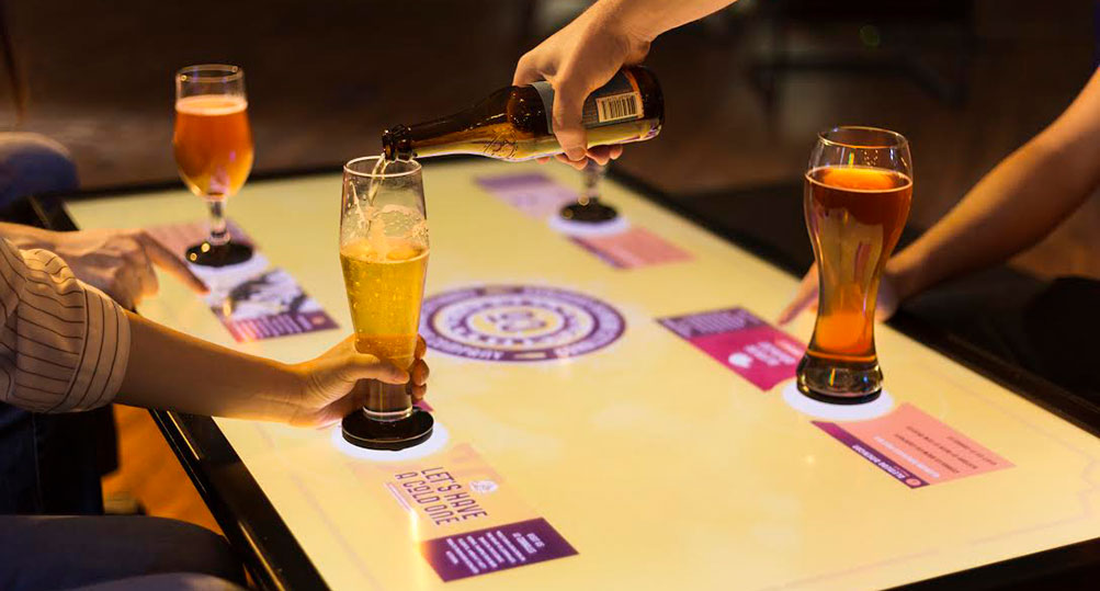 Interactive Beer Tasting Demo Highlights Tangible Engine Software.