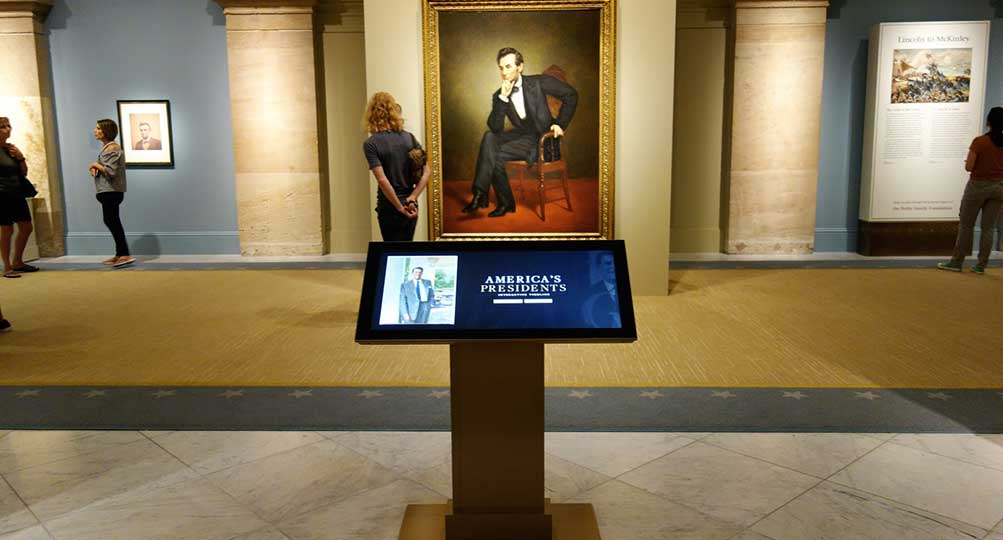 Ideum and Smithsonian National Portrait Gallery to Offer Tour of America's Presidents Exhibition